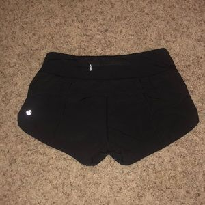 black lululemon speed short!!